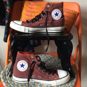 Converse High Tops Muted Orange